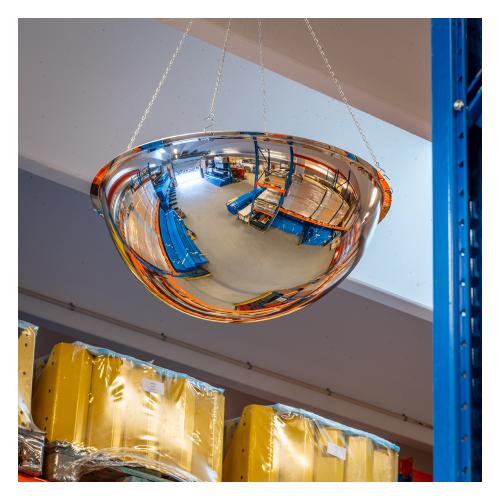 Industrispejl 360 grader til ophæng i loftet på lager.