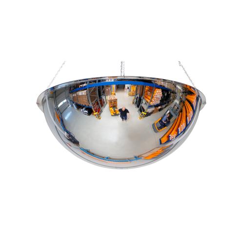 Industrispejl 360 grader til loft. Vidvinkelspejl til lager og industri.