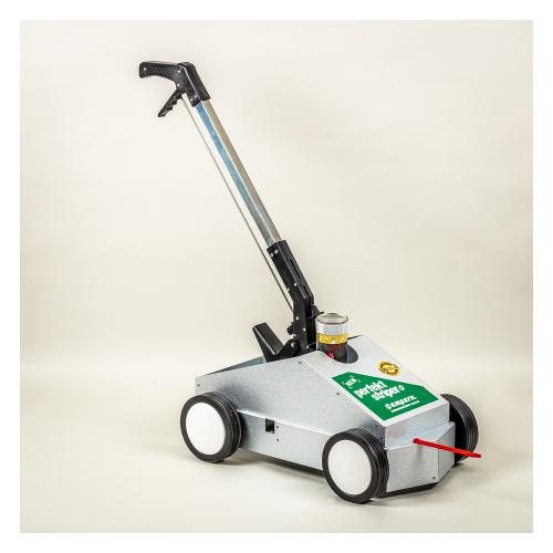 En markeringsvogn er ideel til nemt og ubesværet at optegne markering på gulv eller asfalt