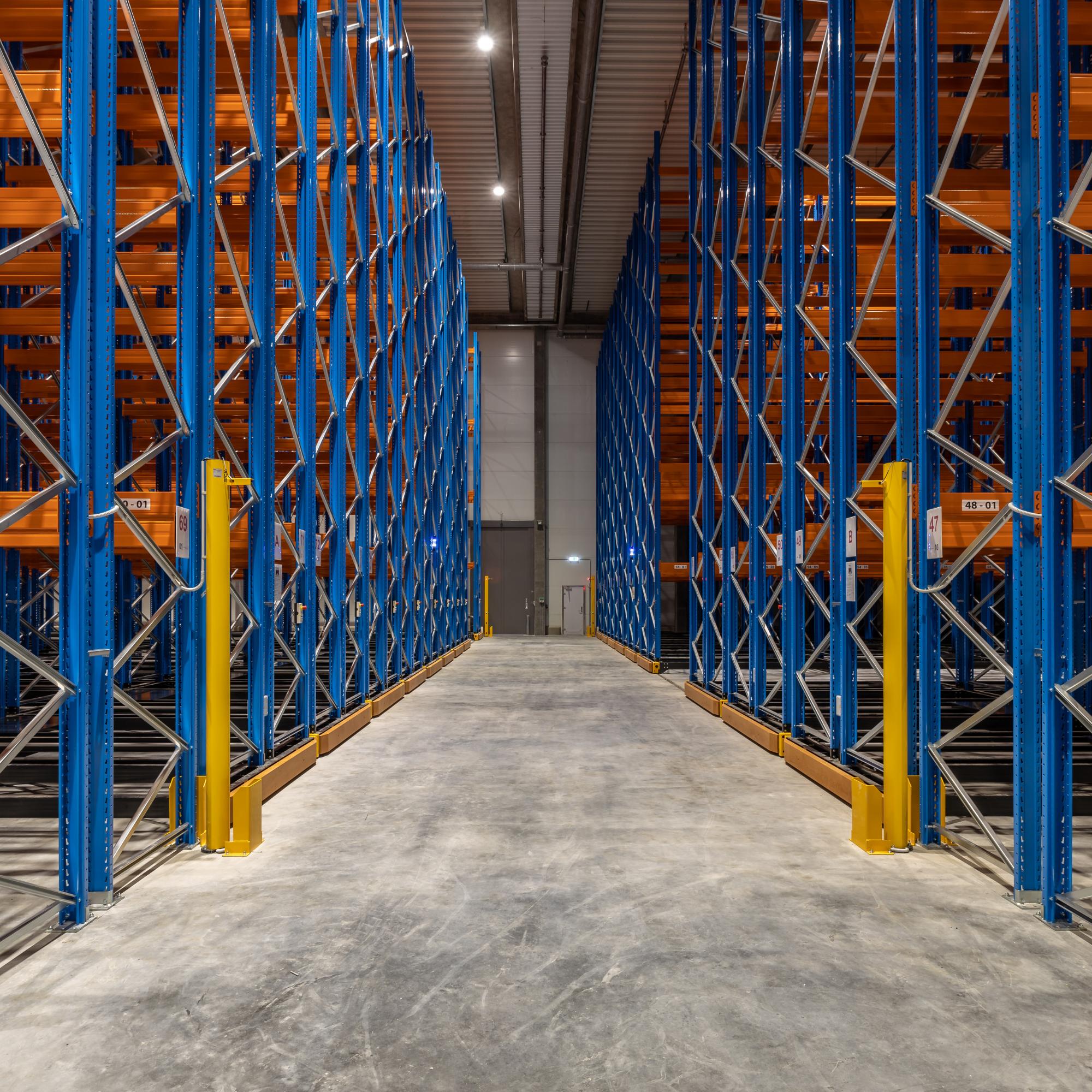 De mobile pallereoler kan rumme over 8.400 pallepladser.