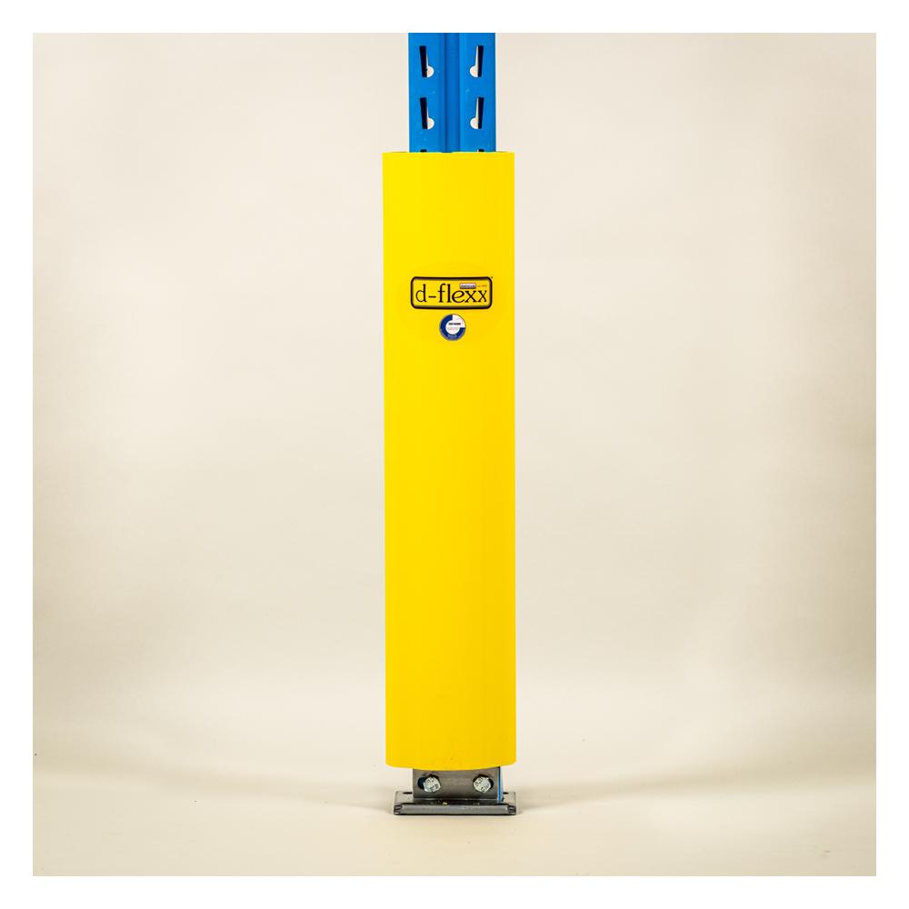 Stolpe beskytter 600 mm påsat stigeben. Stigeben beskytter til pallereol.