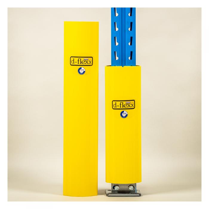 Stolpe beskytter fås i to varianter. Stigebensbeskytter 400 mm og stigebensbeskytter 600 mm.