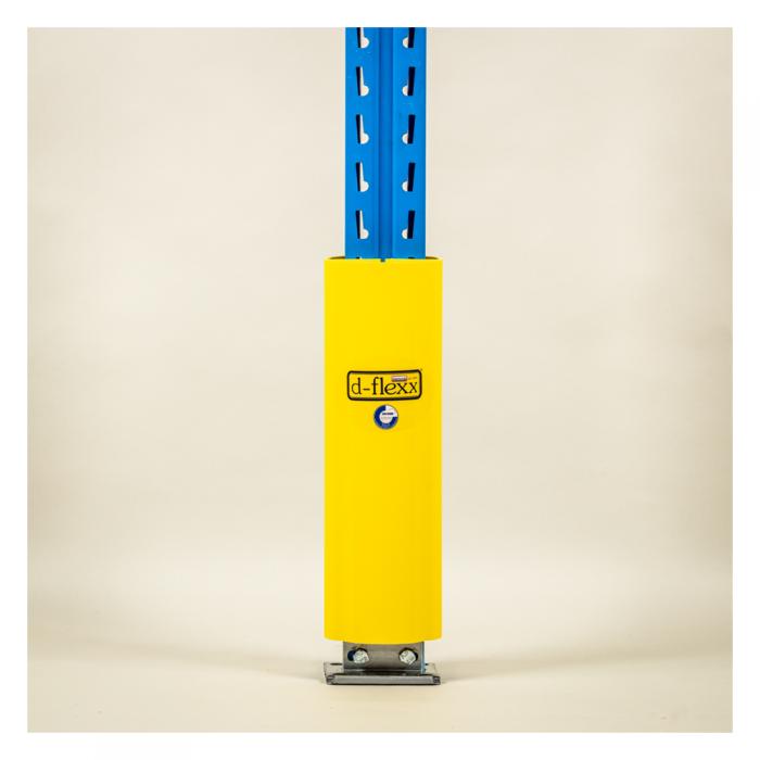 Stolpe beskytter 400 mm på stigeben. Pallereol tilbehør. Stigebensbeskytter til pallereol.