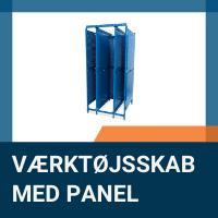 Kompakt værktøjsskab med panel