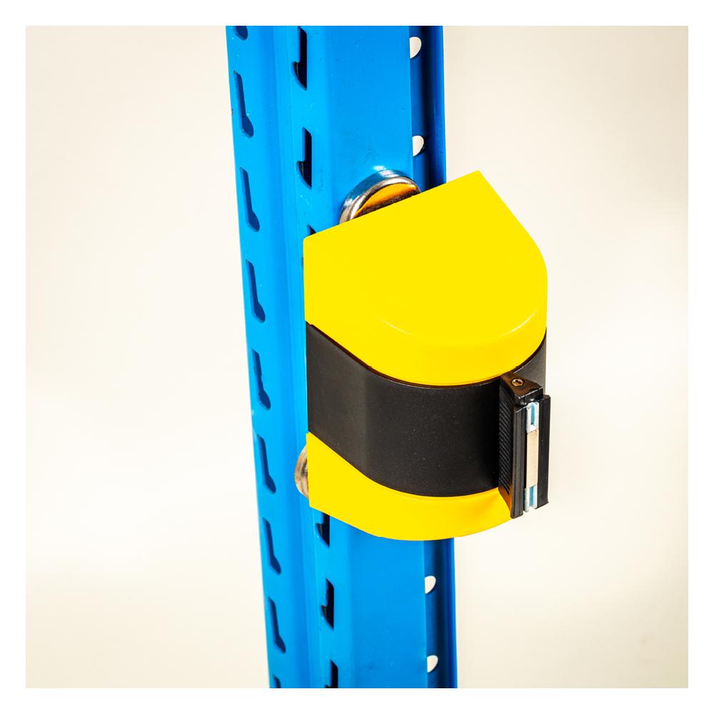 Afspærringsbånd gul sort med magnet.